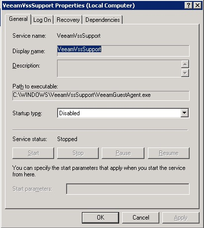 Veeam Backup Service Error 1053