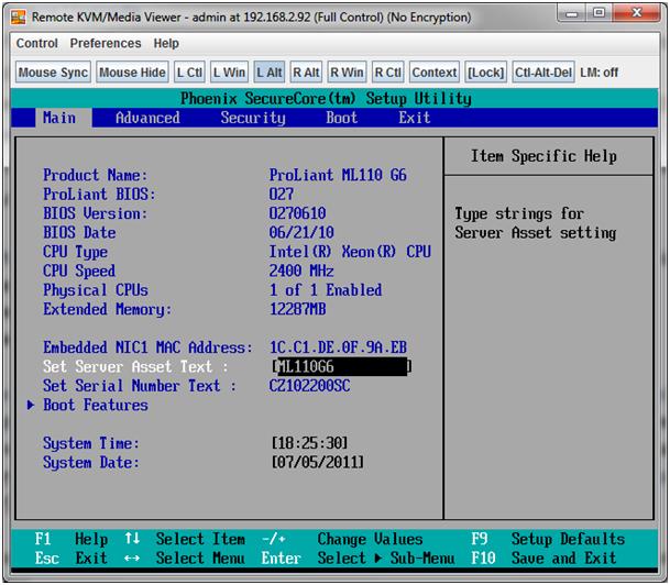 Installing VMware ESXi 4 1 on a HP ML 110 G6 server